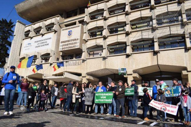 15 Martie Image: Botosaniul Vrea Autostrada… Chiar?! In Piata Revolutiei A